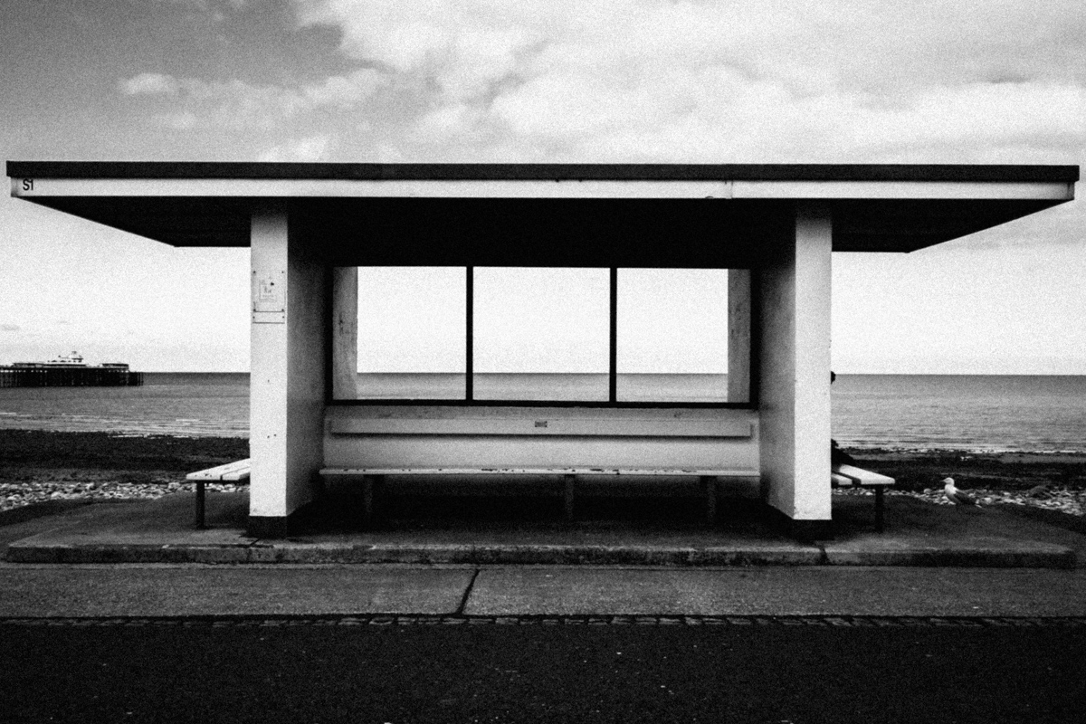 Shelter, Llandudno, 2016. Sony DSC-W100. Post-processing applied including lens correction.