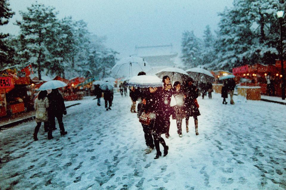 Snow Girls, Kyoto, 2015, © Sean Lotman